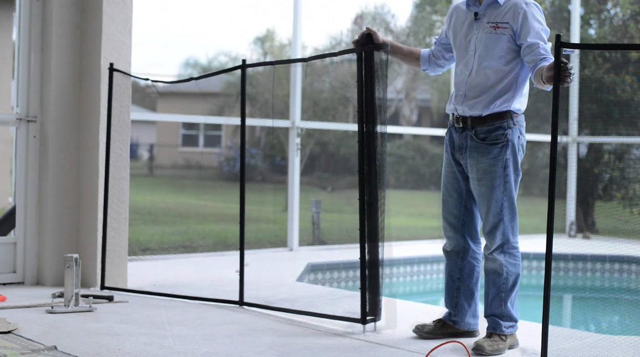 diy pool fence
